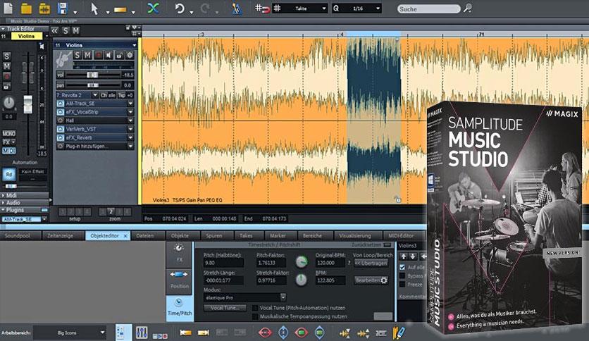 MAGIX Samplitude Music Studio Crack Free Download