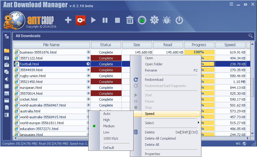 Ant Download Manager Pro 1.19.5 Crack Download